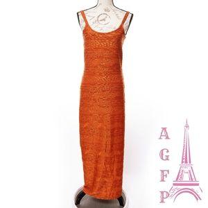 Newport news rust orange stretch Maxi dress